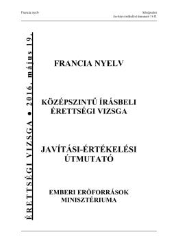 FRANCIA NYELV JAVÍTÁSI