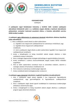 Fogszabályozás - Semmelweis Egyetem