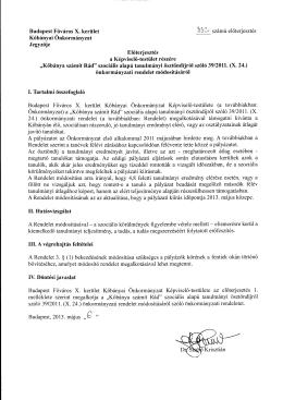 """""""Kőbánya Számít Rád"""" szociális alapú tanulmányi ösztöndíjról szóló"""