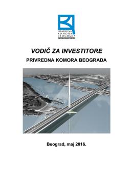 Vodič za investitore - Privredna komora Beograda