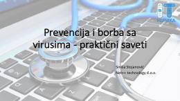 Prevencija i borba sa virusima (Sinisa Stojanovic)