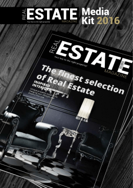 Media Kit 2016 - Real Estate Magazin