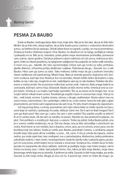 Borivoj Gerzić: PESMA ZA BAUBO