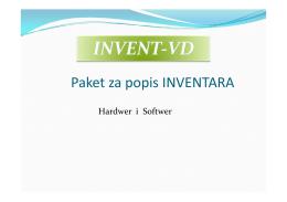 Paket za popis INVENTARA