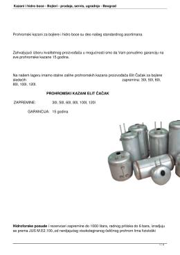 Kazani i hidro boce - Bojleri - Bojleri, prodaja bojlera i servis bojlera