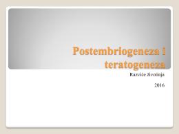 Postembriogeneza i teratogeneza