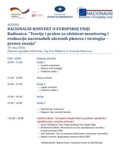 Teorije i prakse za efektivni monitoring i evaluaciju nacionalnih