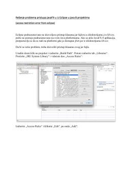 Rešenje problema pristupa javaFX-u iz Eclipse u java 8 projektima
