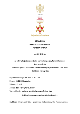 Agenda - 24.maj Herceg Novi