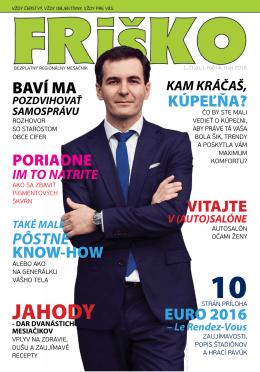 FRIŠKO - bezplatný regionálny magazín