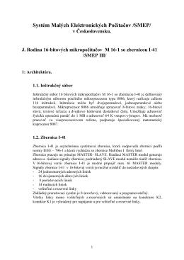 Systém Malých Elektronických Počítačov /SMEP/ - vuvt