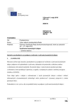8508/16 mr/SB/ro 1 DG G C 3 Iniciatíva predsedníctva na podporu