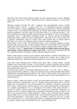 Oborový manuál v PDF