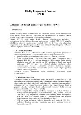 RPP16 - vuvt