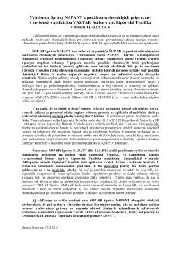 vyhlásenie postreky - Národný park Nízke Tatry
