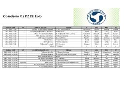 Obsadenie R a DZ - 28.kolo (20.5.2016)