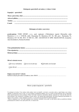 Formulár odstúpenia (14 dní)