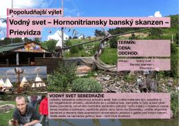 Vodný svet – Hornonitriansky banský skanzen