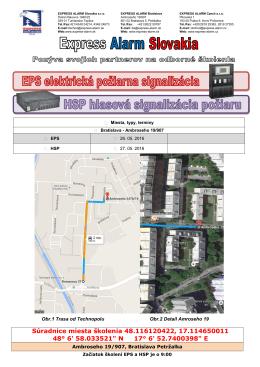 Pozvánka a mapa - Express Alarm