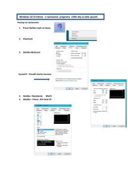 Windows 10 32 bitový a nastavenie programu JURA - Adam-Soft