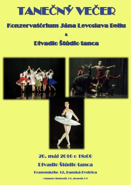 20. máj 2016 o 18:00 Divadlo Štúdio tanca