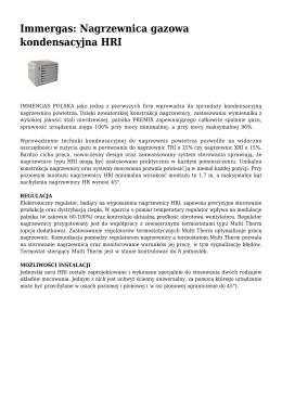 Immergas: Nagrzewnica gazowa kondensacyjna