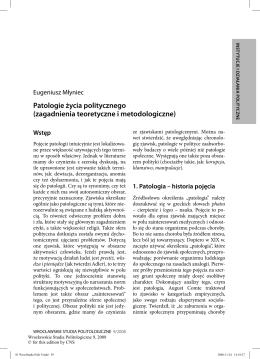 Pobierz artykuł - Wrocławskie Studia Politologiczne