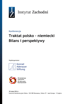 Konferencja Traktat polsko – niemiecki Bilans i perspektywy