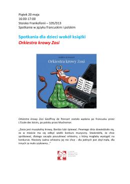 godz. 16.00-17.00 – Spotkania dla dzieci wokół książki – Orkiestra