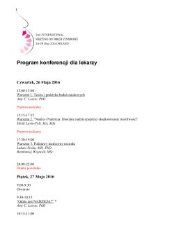 Program konferencji dla lekarzy