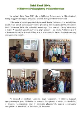 Dzień Ziemi 2016 w Bibliotece Pedagogicznej w Skierniewicach