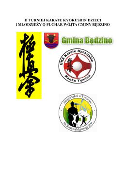 Dokument y do II Turnieju Karate Kyokushin Dzieci i Młodzieży o