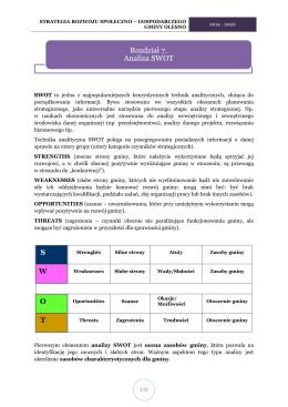 strategia rozwoju społeczno – gospodarczego gminy olesno
