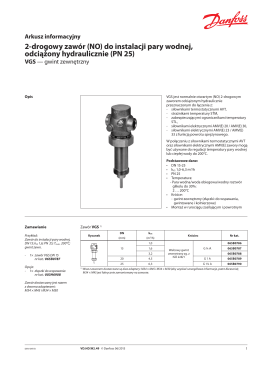 do instalacji pary wodnej, odciążony hydraulicznie (PN