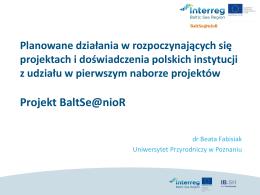 Projekt BaltSe@nioR