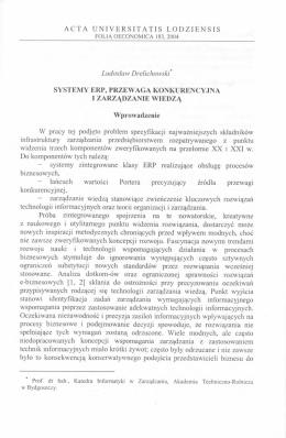 ACTA UNIVERSITATIS LODZIENSIS Ludosław Drelichowski