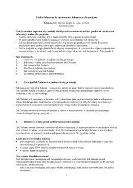 Ulotka dołączona do opakowania: informacja dla pacjenta Xalatan
