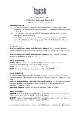 Program_DSW_2016 - BOK Białostocki Ośrodek Kultury