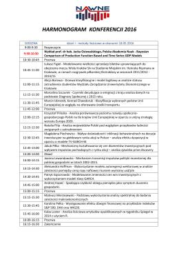 harmonogram konferencji 2016