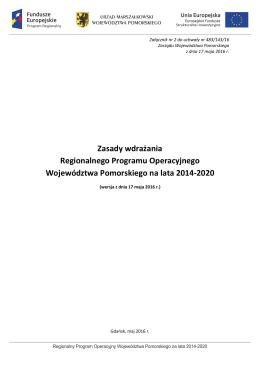 Zasady wdrażania RPO WP 2014-2020