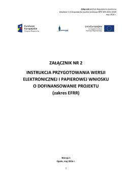 Instrukcja przygotowania wersji elektronicznej i papierowej wniosku