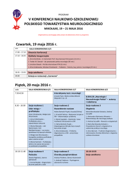 Program szczegółowy konferencji (do pobrania w formacie pdf)