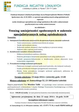 Oferta_Trening_specjalistyczne usługi opiekuńcze