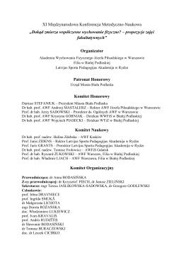 XI Międzynarodowa Konferencja Metodyczno