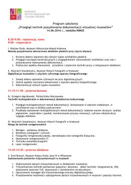 """Program szkolenia """"Przegląd technik pozyskiwania dokumentacji"""