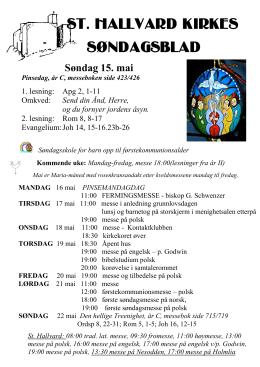 søndagsblad 160515 - St Hallvard menighet