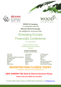 Emerging Europe Financials Conference