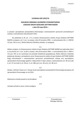 Uchwała 5 – sporządzanie sprawozdania finansowego