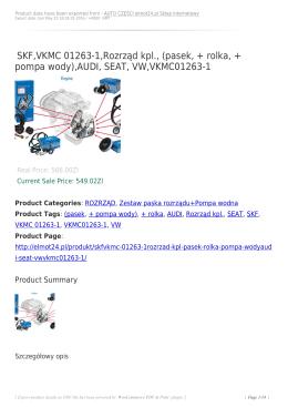 AUDI, SEAT, VW,VKMC01263-1