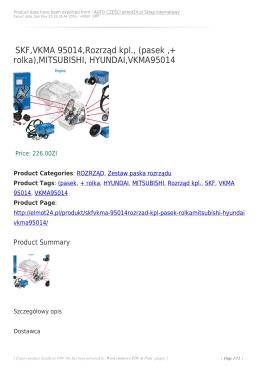 SKF,VKMA 95014,Rozrząd kpl., (pasek ,+ rolka